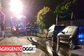 incendio auto in via delle Agavi Agrigento 2
