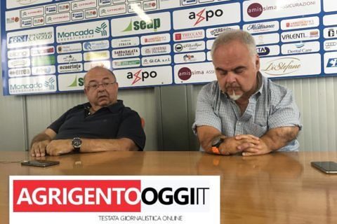 Salvatore Moncada e Franco Ciani in sala stampa