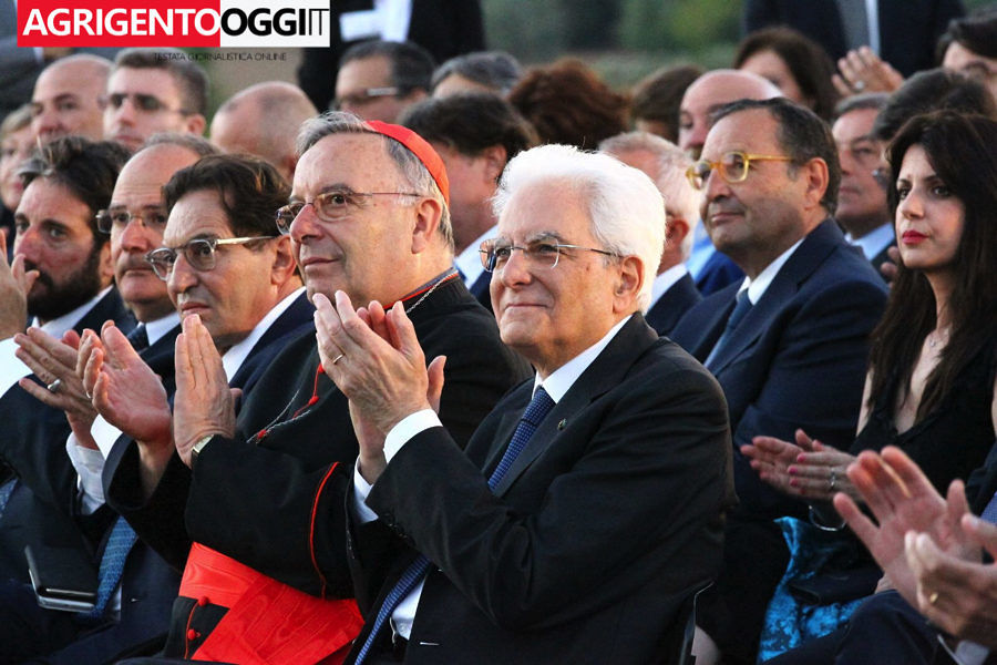 Sergio Matterella ad Agrigento per l'omaggio a Luigi Pirandello