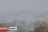 Agrigento: le foto dell'incendio alla Valle dei Templi